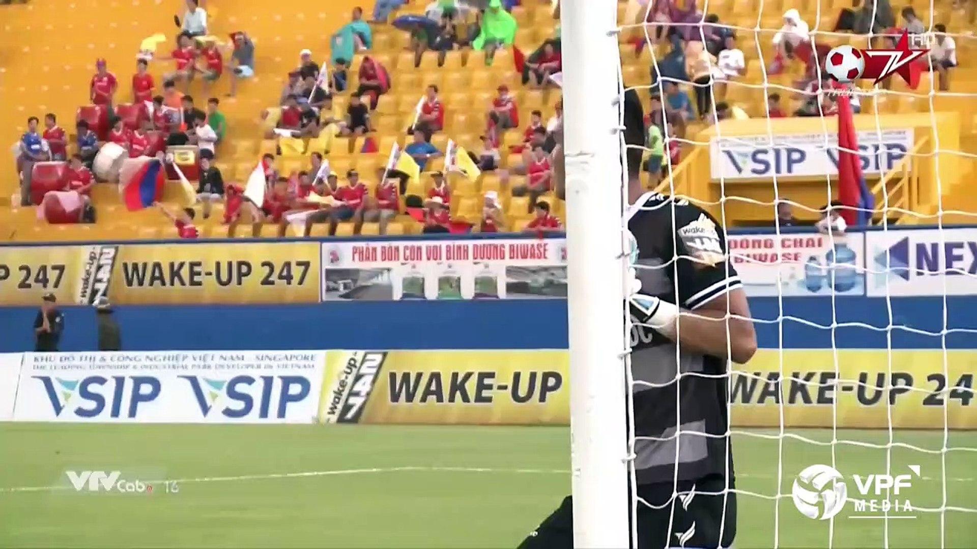 Đại chiến trong mưa, Bình Dương giành chiến thắng trong trận cầu 6 điểm với Khánh Hòa | VPF Media