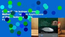 Online Stable Isotope Forensics  Methods and Forensic Applications of Stable Isotope Analysis  For