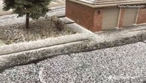That's not a blanket of snow, it's hail
