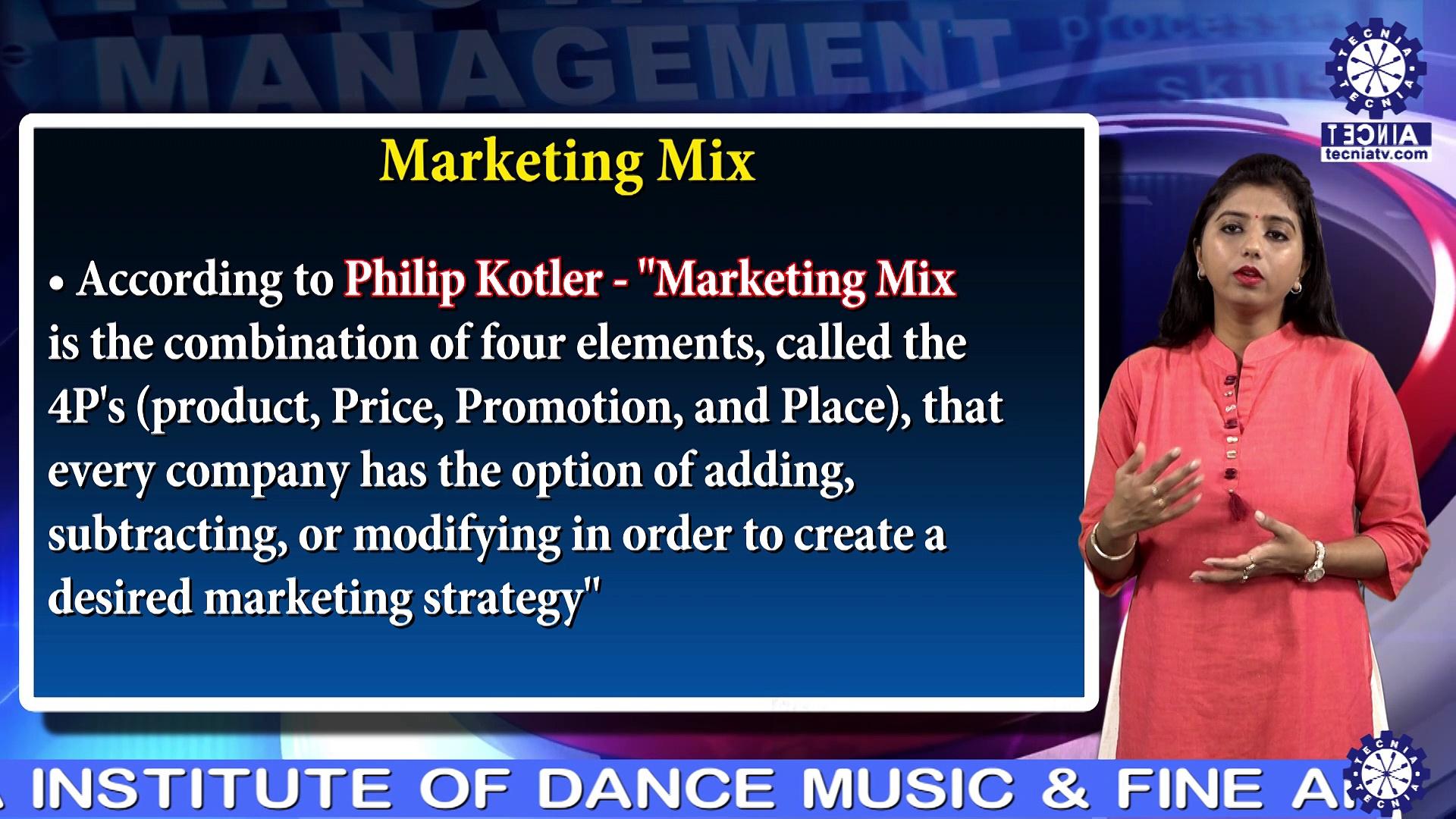 Marketing Mix ||  Ms. Neha Gupta || BBA || TIAS || TECNIA TV