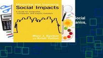 Full E-book Measuring and Improving Social Impacts: A Guide for Nonprofits, Companies, and Impact