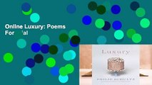 Online Luxury: Poems  For Trial
