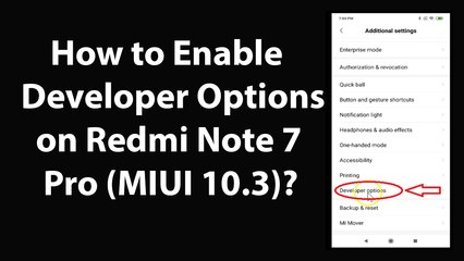 How to Enable Developer Options on Redmi Note 7 pro (MIUI
