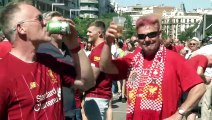 Boisterous fans in Madrid as clock ticks down to UEFA Champions League final