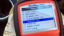 Autel maxidag elite full 4 system obd2 scanner code reader demo testing review