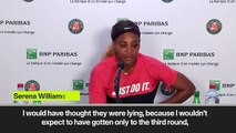 (Subtitled) Serena Williams 'didn't expect' third round exit at French Open