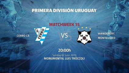 Pre match day between Cerro CA and Wanderers Montevideo Round 15 Apertura Uruguay