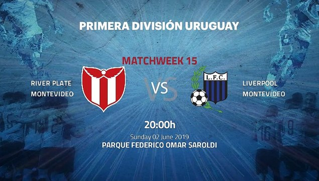 Pre match day between River Plate Montevideo and Liverpool Montevideo Round 15 Apertura Uruguay