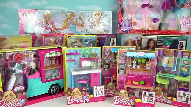 Huge Barbie Toys Holiday Unboxing - Doll Grocery Store, Ballerina Set, Barbie Doll Dress up Toy