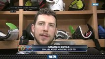 Charlie Coyle Says Bruins Have Room To Improve After Game 3 Blowout Win