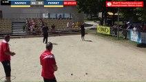 Pétanque : Championnats Territoriaux Rhône-Alpes 2019 à Chabeuil - huitième individuel RADNIC vs PERRET - Début