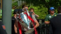 Liverpool leave Madrid following UEFA Champions League triumph