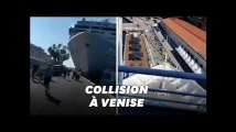 À Venise, un bateau de croisière hors de contrôle sème la panique