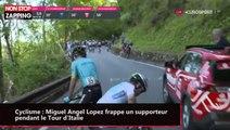 Cyclisme : Miguel Angel Lopez frappe un supporteur pendant le Tour d'Italie (vidéo)