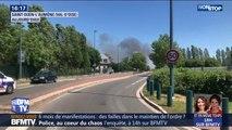 Un gigantesque incendie s'est déclaré à Saint-Ouen l'Aumône, dans le Val d'Oise