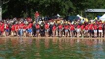 Au départ du triathlon des lacs