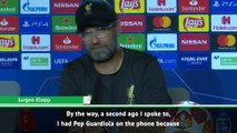 Guardiola just rang me on the phone - Klopp