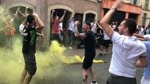 Football. Les supporters du Mans FC fêtent la montée en Ligue 2