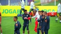 Brazil back in training amid allegations against Neymar