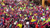Ecuador parties after Richard Carapaz's success in the Giro d'Italia