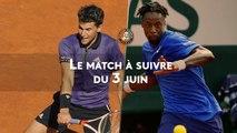Thiem-Monfils : le match à suivre du lundi 3 juin