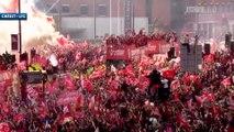 Le retour des Reds accueillis en héros à Liverpool