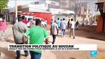 """Assaut des militaires au Soudan : """"un retour en arrière"""" pour la contestation"""