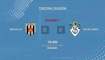 Resumen partido entre Mérida AD y Socuéllamos Jornada 1 Tercera División - Play Offs Ascenso