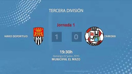 Resumen partido entre Haro Deportivo y Zamora Jornada 1 Tercera División - Play Offs Ascenso