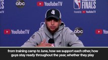 (Subtitled) 'Our DNA showed up' Steph Curry after Warriors tie NBA Finals at 1-1