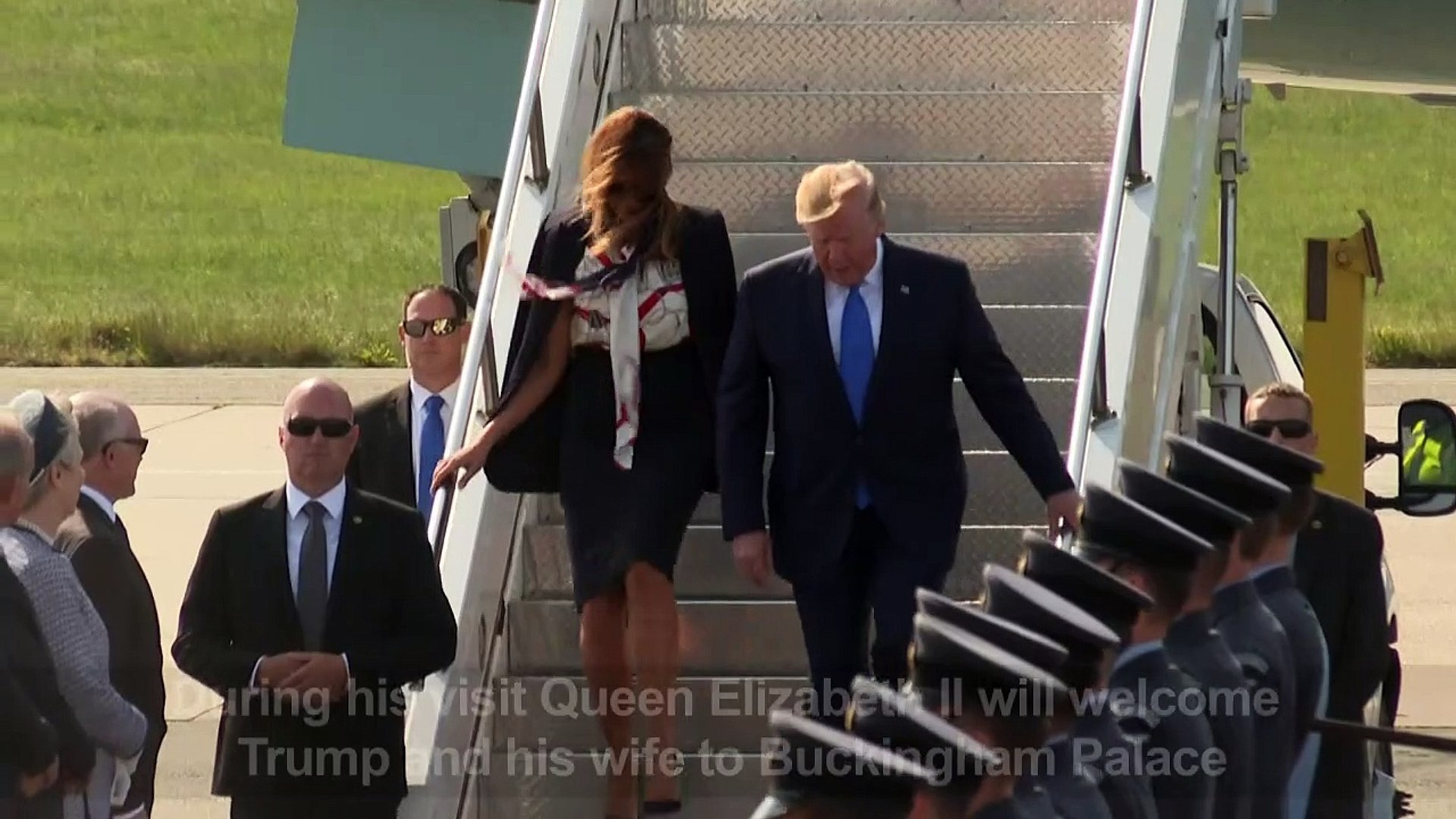 President Trump arrives in the UK on state visit