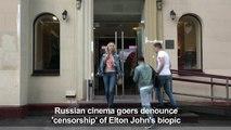 Russian cinema goers denounce 'censorship' of Elton John biopic
