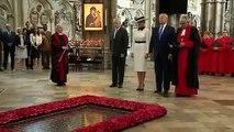 Trump lays wreath in Westminster Abbey
