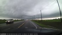 Lightning Striking During Drive