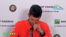 "Roland-Garros 2019 - Novak Djokovic : ""It does not bother me to walk around"""