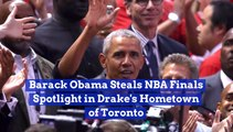 Barack Obama Couldn't Miss The NBA Finals Action