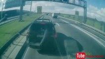 Ce conducteur de BMW X5 cherche les embrouilles à un camion 40 tonnes.... Mauvaise idée