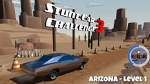 Playing Stunt Car Challenge 3 - Arizona Tutorial Level 1