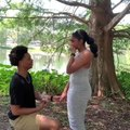 Man Proposes to Girlfriend by Lake