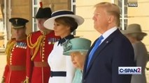 Queen Elizabeth II Welcomes President Trump And First Lady
