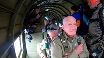 D-Day veteran honours fallen comrades with parachute jump