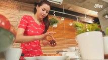 가족을 위한 요리 연어 버섯 파르시