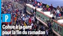 Bangladesh : des trains bondés pour la fin du ramadan