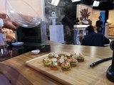 Toasts au cabillaud et saumon