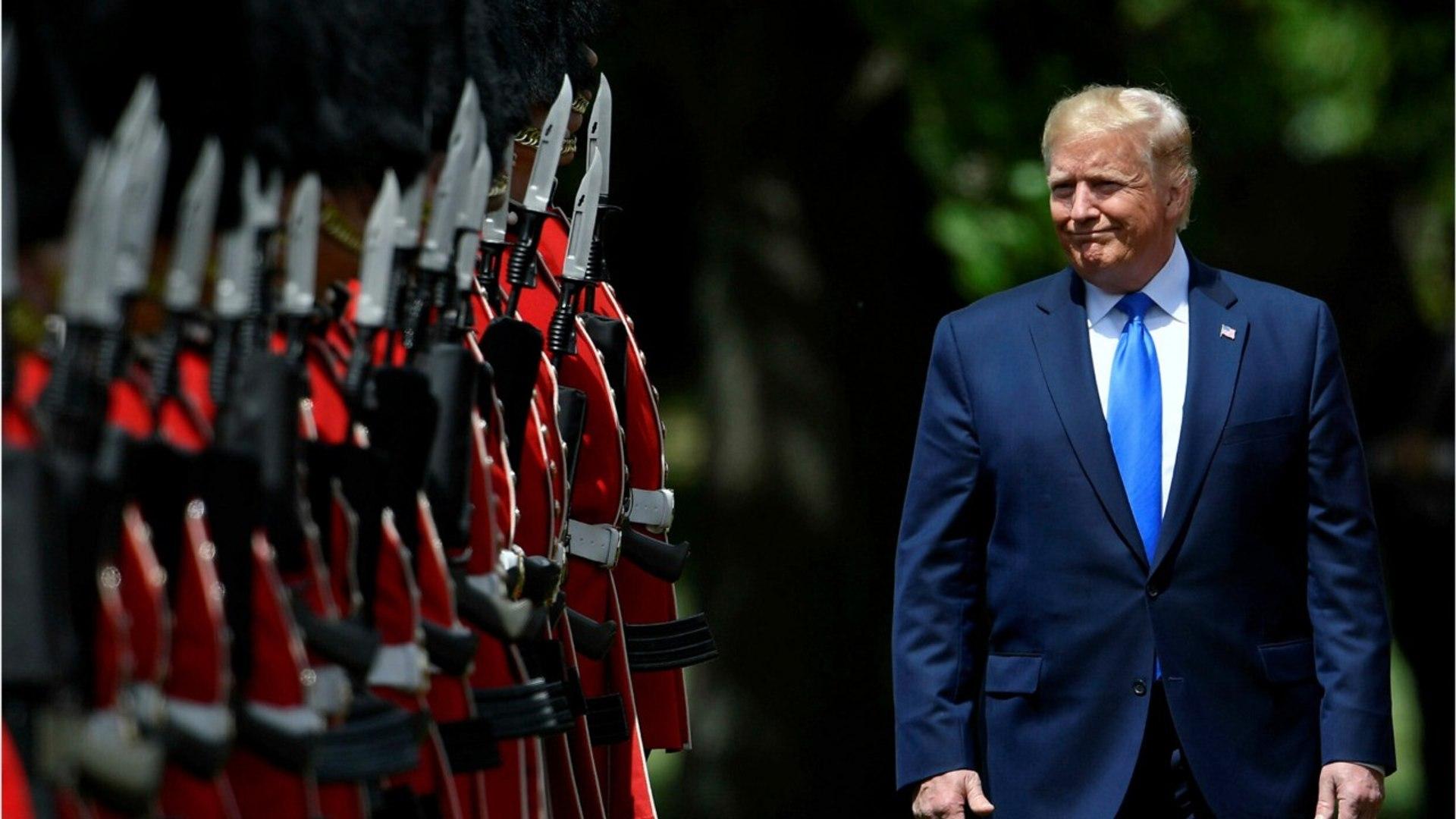 Trump Followed By Trump Balloon In London