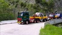 Tarentaise : le convoi exceptionnel des nouveaux câbles de la Cime Carron