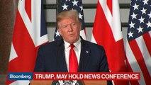 Trump Calls U.K. Protests Against Him 'Fake News'