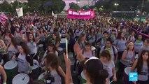 Des dizaines de milliers de femmes manifestent contre la violence machiste en Argentine
