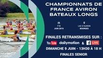 CHAMPIONNAT DE FRANCE SENIOR BATEAUX LONGS, BOURGES, DIMANCHE 9 JUIN 13H30