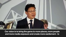 (Subtitled) China awarded AFC Cup and pledge to make football biggest sport in Asia